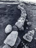 Stone Wall and Cairns, the Arctic Circle, Norway, Photographic Print