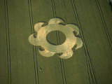 Crop circle, Danebury, Hampshire, England, Giclee Print