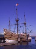 Pilgrim ship Mayflower, Plymouth, MA Giclee Print