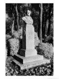 Statue of Richard Wagner by F. Schaper, the Giardini Pubblici, Castello, Giclee Print