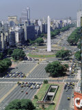 World's Widest Street, Buenos Aires, Argentina, Giclee Print