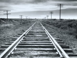 Empty Railroad Tracks Photo Print