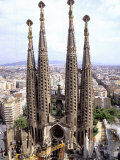 The Four Towers of Gaudi's Church of La Sagrada Familia, Photographic Print