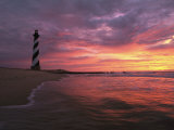 The 198-Foot Tall Lighthouse on Cape Hatteras, Photographic Print