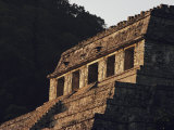 Close view of a pyramid at Palenque, Chiapas, Mexico, National Geographic