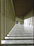 Colonnade of Reconstructed Agora, Athens, Photographic Print