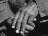 Worn and Hardened Hands of a Farmer, Photographic Print