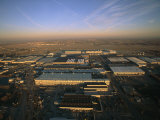 Aerial view of the Boeing factory in Wichita, Kansas, Giclee Print