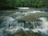 View of the waterfalls in Tahquamenon Falls, Photographic Print