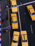 Aerial View of Taxis, NYC, Photographic Print