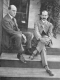 Wilbur and Orville Wright on the Steps of Their Home, Giclee Print