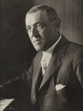 Woodrow Wilson, American President & Nobel Prize Winner in 1919, Photographic Print