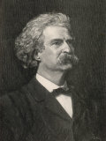 Mark Twain (Samuel Langhorne Clemens) American Writer, Creator of Tom Sawyer and Huckleberry Finn, Photographic Print