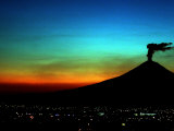 The Popocatepetl Volcano Sends out a Plume of Smoke, Photographic Print