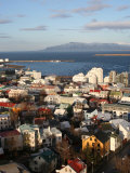 City Centre with Harbour in Background, Reykjavik, Iceland, Photographic Print