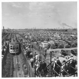 Ford Workers Leaving the Ford Motor Company's River Rouge Plant, Photographic Print