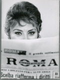 Actress Sophia Loren Impishly Peering over the Top of Roma Newspaper, Photographic Print