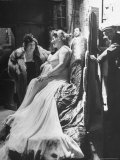 Soprano Marjorie Lawrence Waiting in the Wings of the Metropolitan Opera House, Photographic Print, Eisenstaedt