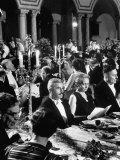 Scientist Irene Joliot Curie Sitting at Formal Nobel Prize Dinner with William Faulkner and Others, Photographic Print