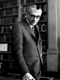 Austrian Born Mathematician Kurt Godel in Serious Portrait at Institute of Advanced Study, Photographic Print