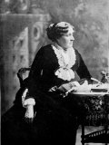"Louisa May Alcott, Author of ""Little Women,"" Seated at a Table, Photographic Print"