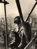 Fortune Magazine Photographer Margaret Bourke White Preparing to Take Picture Atop NYC Building, Photographic Print