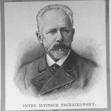 Engraving of Russian Composer Peter Ilyich Tchaikovsky, Photographic Print