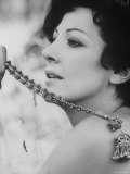 """Opera Singer and Actress Anna Moffo in a Scene From the Italian Movie """"A Story of Love."""", Photographic Print"""