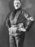 German Nazi Leader Adolf Hitler Wearing Lederhosen and Shirt with Party Swastika Armband, Photographic Print