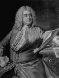 Mezzotint Engraving Based on Painted Portrait of Composer George Frideric Handel, Photographic Print