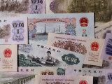Colorful Chinese Paper Money, Photographic Print