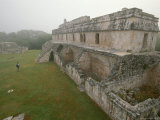 Wide-angle view of the Palace at Kabah in the Yucatan Tuuc Region, National Geographic, Giclee Print