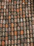 Close-Up of Terra Cotta Roof Tiles, Photographic Print