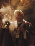Pope John Paul II Incenses the Altar at a Mass at San Dorotea, San Dorotea, Trastevere, Italy, Photographic Print
