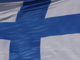 Finland Flag, Photographic Print