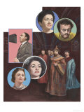 World-Famous Opera Singers, Giclee Print