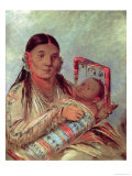 Sioux Mother and Baby, c.1830, Giclee Print, George Catlin