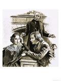 Robert & Clara Wieck Schumann, Giclee Print