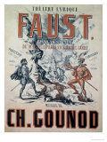Poster Advertising Faust, Opera by Charles Gounod, Giclee Print