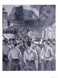 Surrender of the Pinkerton Men to the Strikers at the Carnegie Steel Company, 1892, Giclee Print