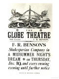 Poster Advertising 'A Midsummer Night's Dream' by William Shakespeare, Giclee Print