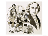 Hans Christian Andersen Entertains His Fellow Apprentices by Singing, Giclee Print
