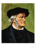 Portrait of Richard Wagner, Composer of the Flying Dutchman, Giclee Print