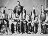 Delegation of Sioux Chiefs, Led by Red Cloud, Photographic Print