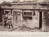 German Commandant Hut, Architecture in the Tahure Trenches, Photographic Print