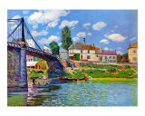 Bridge at Villeneuve-La-Garenn, Art Print, Alfred Sisley