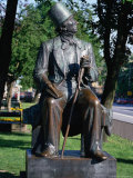 Statue of Hans Christian Andersen, Copenhagen, Denmark, Photographic Print