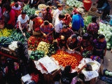 Fruit and Vegetable Stalls at Sunday Market, Chichicastenango, Guatemala,, Photographic Print