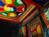 Decorative Entrance to Pyenzhangling Monastery In Zhonggang, Tsang District, Tibet, Photographic Print