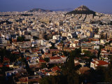 Cityscape from Acropolis (Sacred Rock) Athens, Attica, Greece, Photographic Print